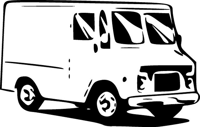 nakreslená dodávka